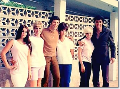 Elvis Presley, Tom Jones and partners, friends