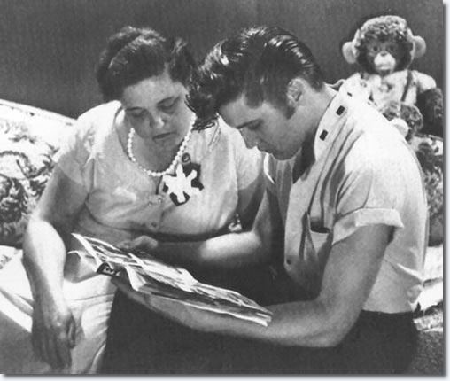 Gladys and Elvis Presley