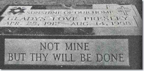 Star of David on Gladys Presley Grave