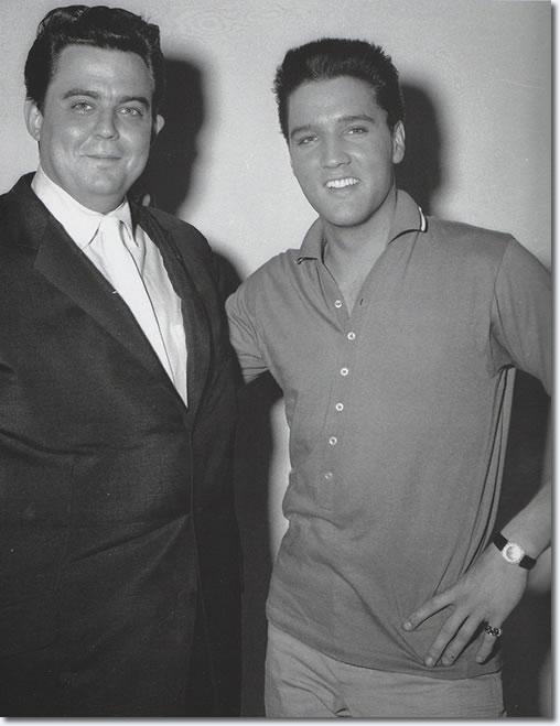 Lamar Fike and Elvis Presley RCA Studios Nashville