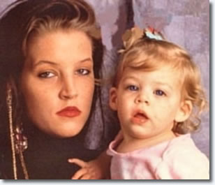 Lisa Marie Presley with baby Danielle Riley Keough
