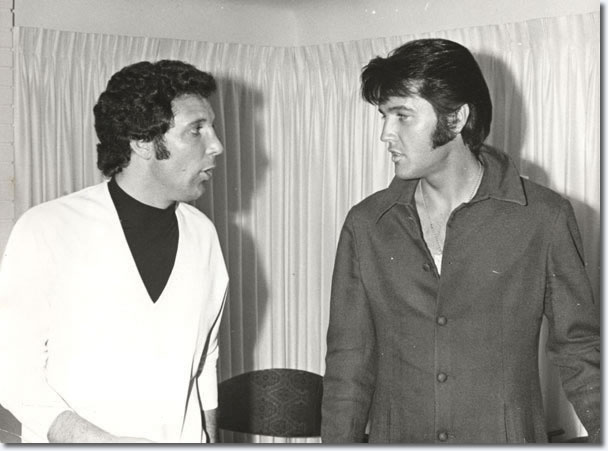 Elvis Presley and Tom Jones : The Flamingo Hotel : June 10, 1969.