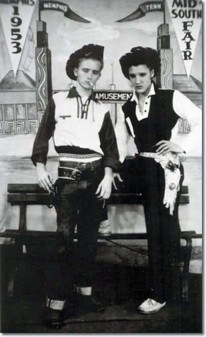 Elvis Presley went with his cousin, Gene Smith, to the 1953 Mid-South Fair.