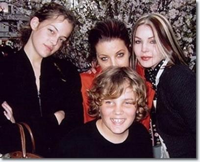 Riley Keough - Lisa Marie Presley - Priscilla Presley - Benjamin Keough, Grandson of Elvis Presley and Priscilla Presley.