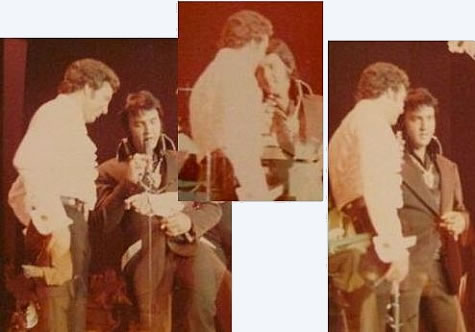 Tom Jones and Elvis Presley : On stage : 1973.