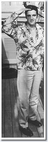Elvis Presley, November 8, 1957 - Aboard the USS Matsonia bound for Honolulu Hawaii