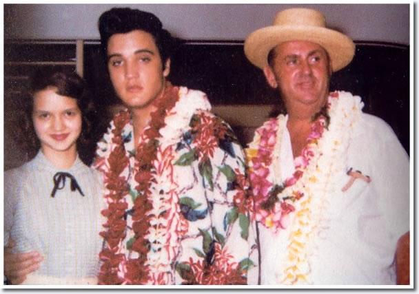 Elvis Presley and Colonel Parker, November 9, 1957 - Honolulu Hawaii