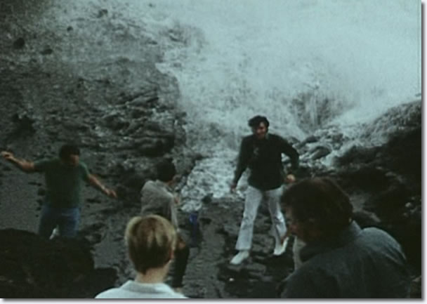 Elvis Presley at the Halona Blow Hole lookout, Hawaii, May 1968
