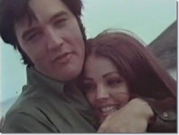 Elvis and Priscilla at the Hanauma Bay lookout, Hawaii, May 1968