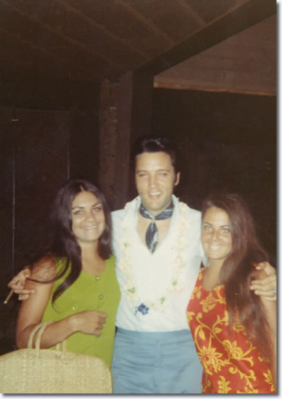Elvis in Hawaii, with fans, where he was vacationing with Priscilla, Vernon and friends in October of 1969