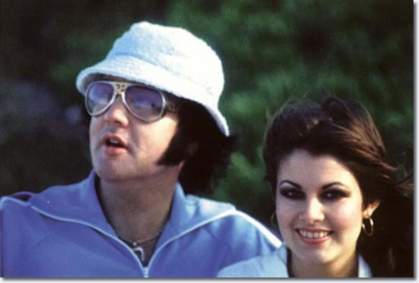 Elvis Presley and Ginger Alden - Hawaii, March 1977