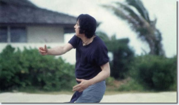 Elvis Presley playing football - Hawaii, 1977 - Looks in good shape!