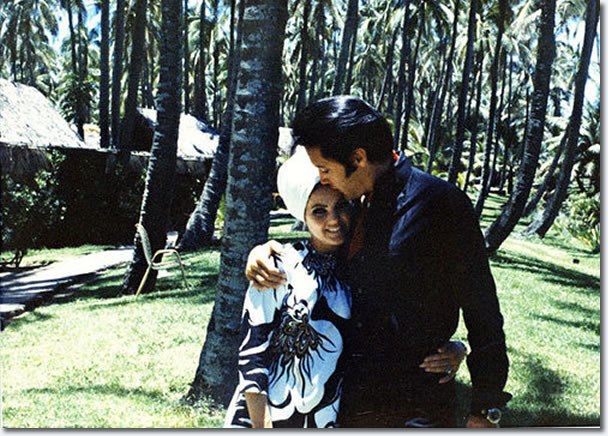 Elvis and Priscilla Presley on holiday, Hawaii