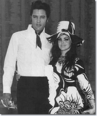 Elvis and Prriscilla Presley