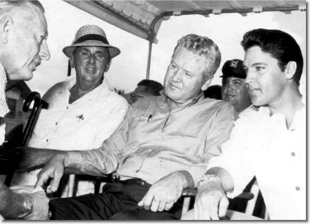 Colonel Parker, Vernon and Elvis Presley