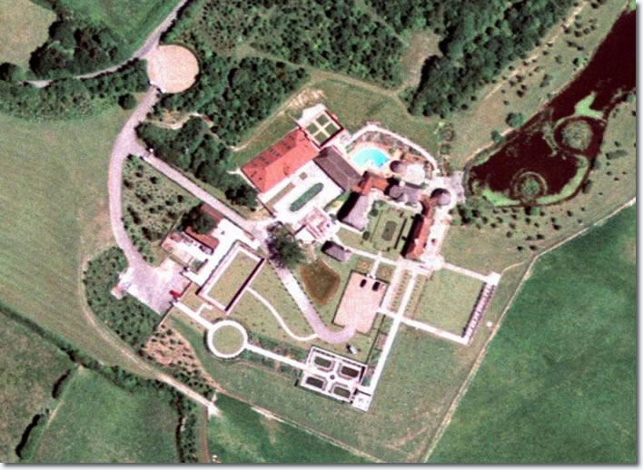 Aerial photo, Lisa Marie''s Country Mansion in England.