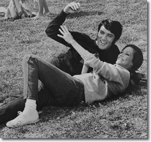 Mary Tyler Moore and Elvis Presley on the set of Change Of Habit