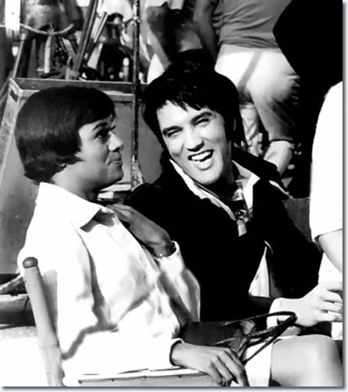 Barbara McNair with Elvis Presley on the set of Change Of Habit