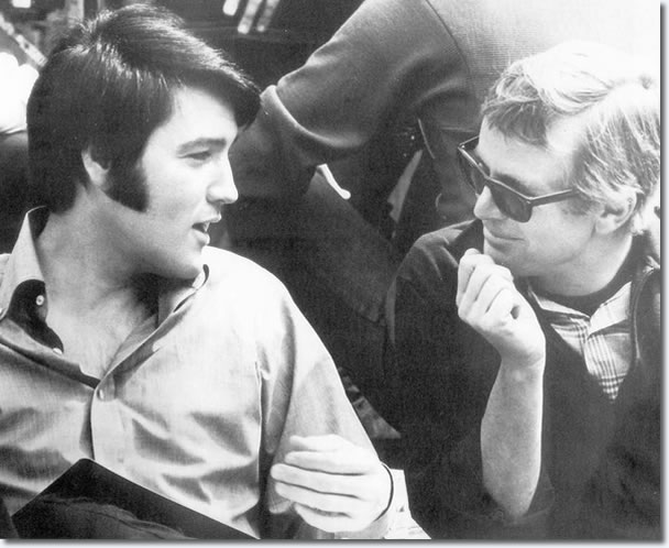 Elvis Presley with Change Of Habit director William A. Graham