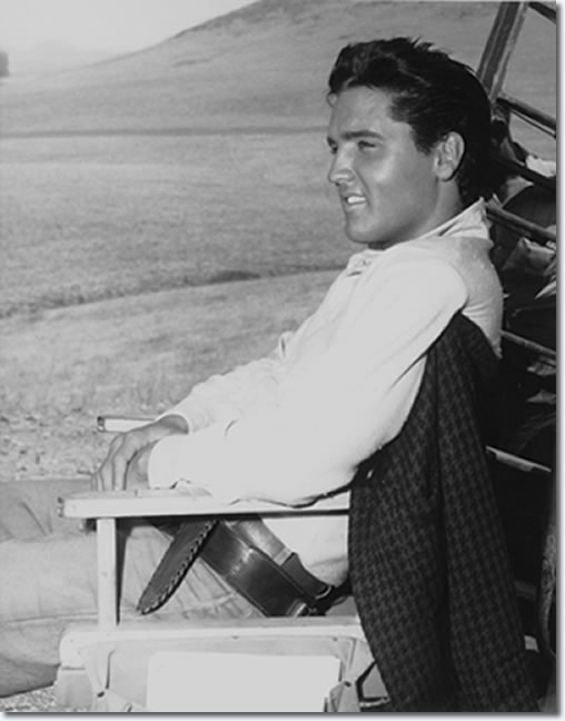 Elvis on the set of Flaming Star : 1960.