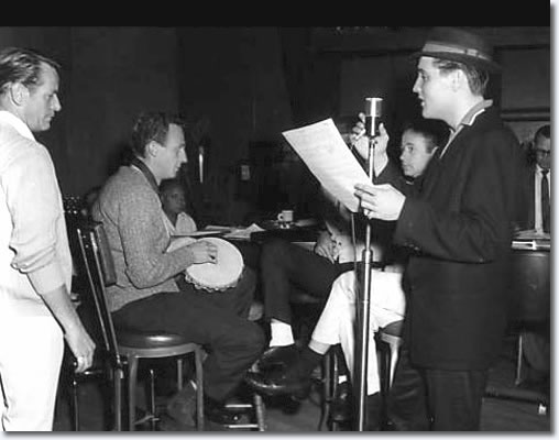 Charles O'Curran, Hoyt Hawkins with Tambourine, Dudley Brooks on piano, Ray Walker, Gordon Stoker and Elvi