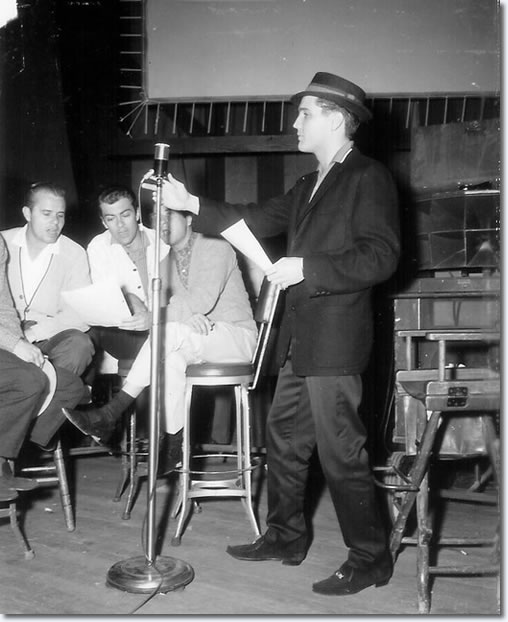 Hoyt Hawkins (cropped) Neal Mattews, Ray Walker, Gordon Stoker provide backing vocals and Elvis Presley.