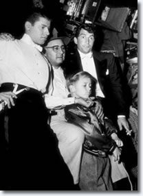 Jerry Lewis, Norman Taurog, Johnny Taurog and Dean Martin.