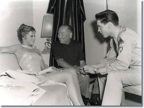 Juliet Prowse,Hal Wallis and Elvis