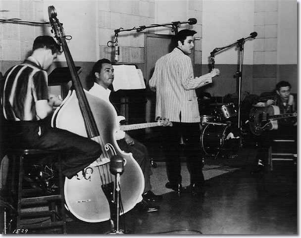 Elvis Presley at the Jailhouse Rock Sessions