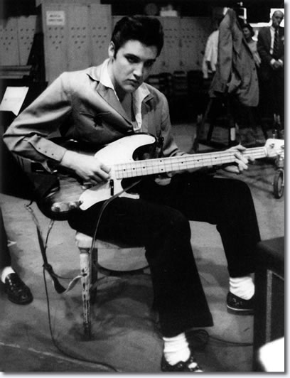 Elvis with an electric bass - The Jailhouse Rock Sessions