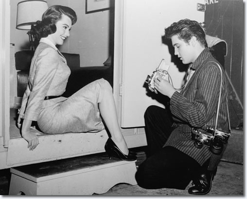 Judy Tyler and Elvis Presley