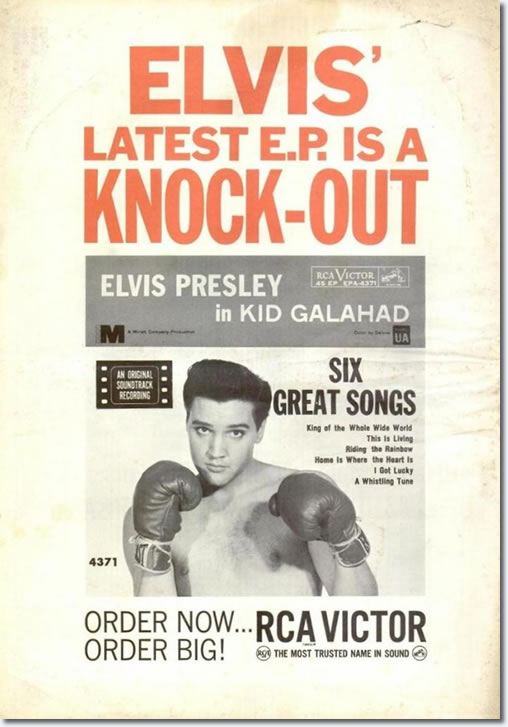 RCA Promotional Poster for Kid Galahad E.P.