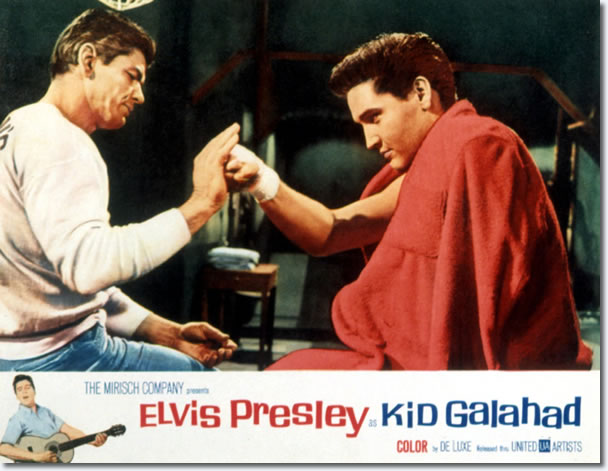 Kid Galahad Lobby Card featuring Charles Bronson and Elvis Presley