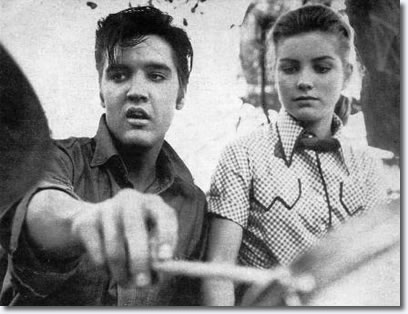 Elvis and Dolores Hart on the same drum kit