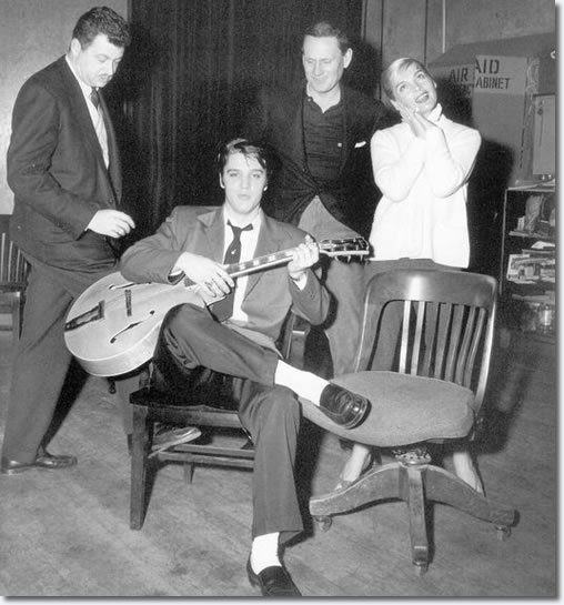 Hal Kanter, Elvis Presley, Wendell Corey and Lizabeth Scott