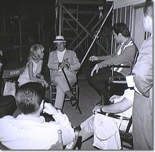 On the set of Speedway with Elvis, Nancy Sinatra, the Colonel and others.