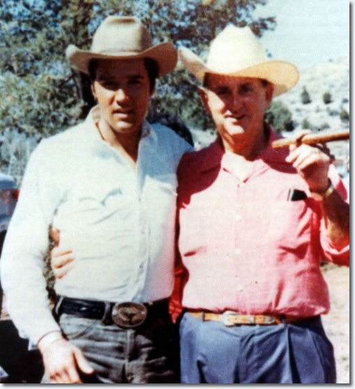 Elvis Presley and Colonel Tom Parker : On the set of Stay Away, Joe : MGM 1968.