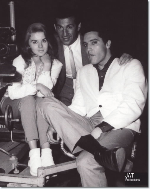 Ann-Margret and Elvis Presley on the set of 'Viva Las Vegas'.