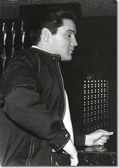 Elvis Presley on the set of Viva Las Vegas. Photo from The Elvis Files Vol. 3 1960-1964 : Hardcover Book