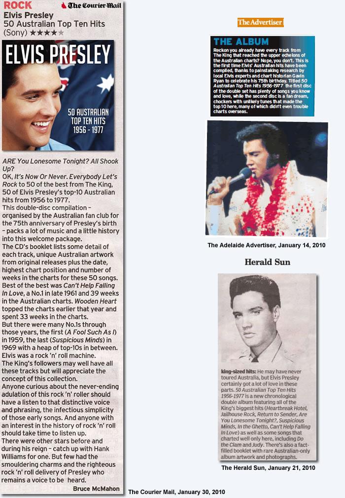 CD Review: 50 Australian Top Ten Hits 1956-1977 : Courier Mail Brisbane