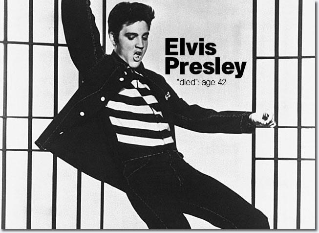 """Elvis Presley """"Died"""" age 42"""