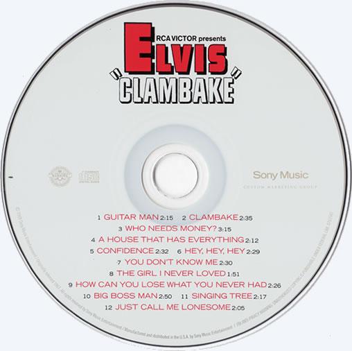 The Clambake CD disc.