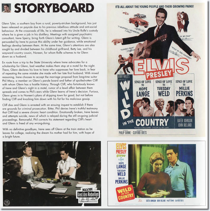 The 'Storyboard' Page: Wild In The Country FTD Special Edition Soundtrack CD