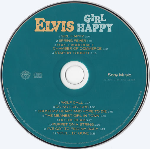The Girl Happy CD disc.