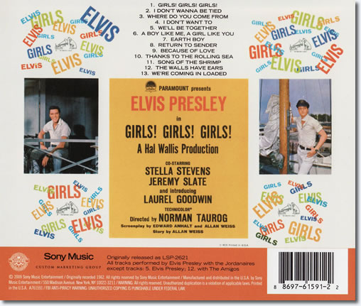 The back cover of the Girls!, Girls!, Girls! CD album.