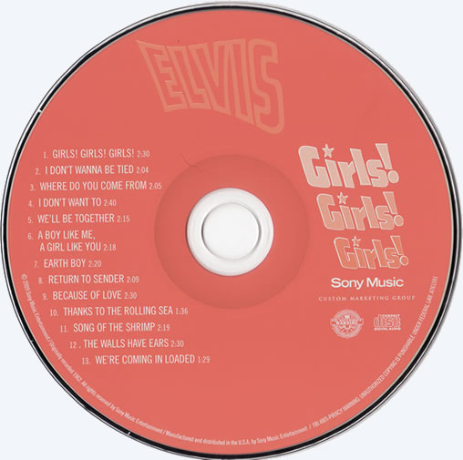 The Girls!, Girls!, Girls! CD disc.