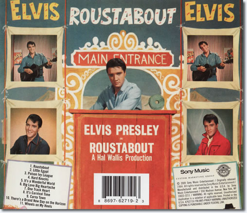 The back cover of the Roustabout CD album.