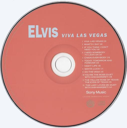 The Viva Las Vegas CD disc.