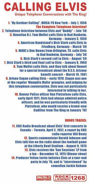Elvis Presley Tracklisting