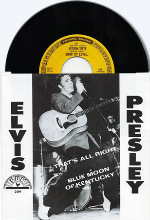 "That's All Right / Blue Moon Of Kentucky Reproduction 45 RPM 7"" Vinyl Single"